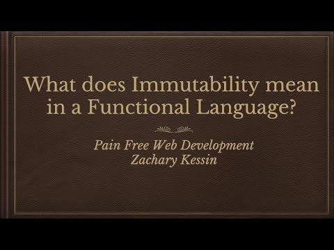 What is Immutability in a programming language?