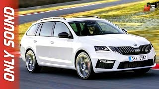 New skoda octavia combi rs 2017 - first test drive only sound