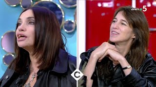 Béatrice Dalle et Charlotte Gainsbourg en pleine impro - C à Vous - 22/09/2020