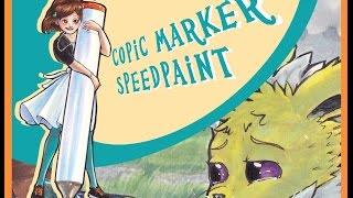 Copic Marker Speedpaint: Jolt the Sad Jolteon