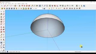 "Sketchup tutorial - How to make a dome/hemisphere using ""Follow Me""  in sketchup"