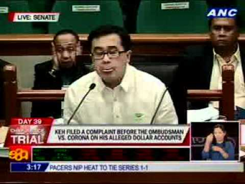 Enrile orders Keh to show cause why he brought documents to his office