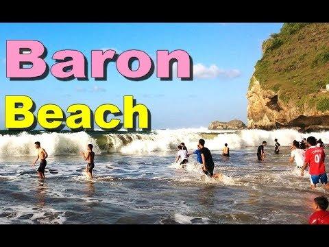 Wisata PANTAI BARON Lebaran - Wisata Beaches in Gunung Kidul Yogyakarta Tourism [HD]