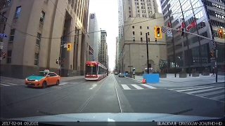 Driving in Toronto - Saturday Morning Drive - February 2017 - Front Dash Cam