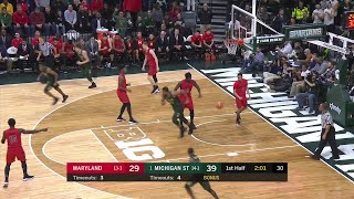 Big Ten Basketball Highlights: Maryland at Michigan State