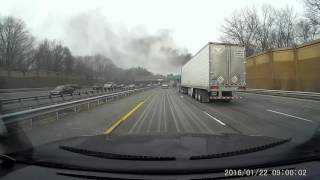 Dump truck fire on the highway!!