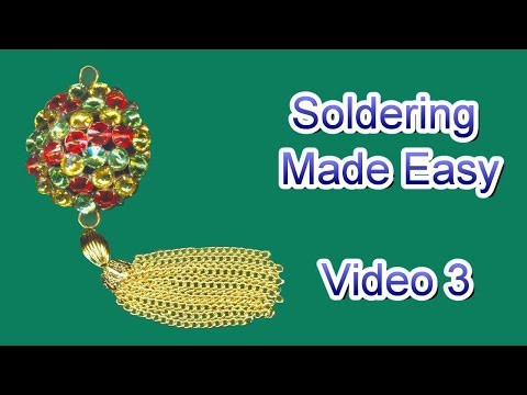 How to Solder Jewelry Video 3 - Full Round Pendant