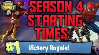 Fortnite Battle Royale: Season 4 Starting Time (Super Hero or Disney Skins?)