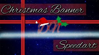DaringNite Christmas Banner Speedart