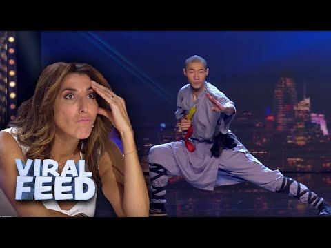 KUNG FU WARRIOR IMPRESSES JUDGES with CRAZY skills on Spains Got Talent 2019 | VIRAL FEED