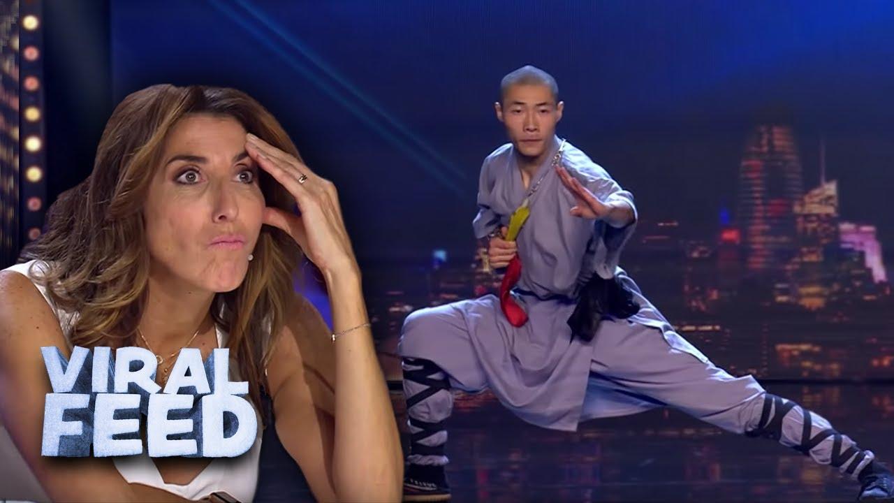 Download KUNG FU WARRIOR IMPRESSES JUDGES with CRAZY skills on Spains Got Talent 2019 | VIRAL FEED