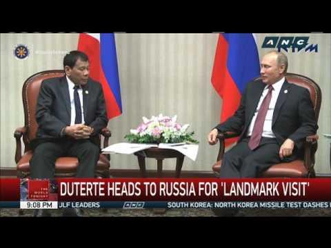 Duterte heads to Russia for 'landmark visit'