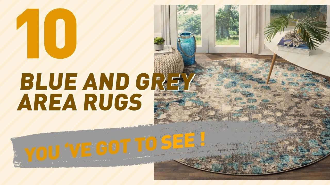 Blue and grey area rugs top 10 best sellers youtube for Best selling rugs
