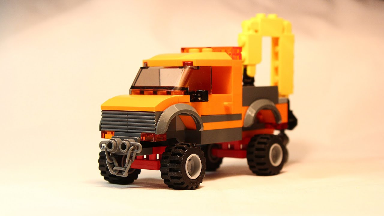 LEGO City Service Truck With Crane Building Instructions ...Lego City Truck Instructions