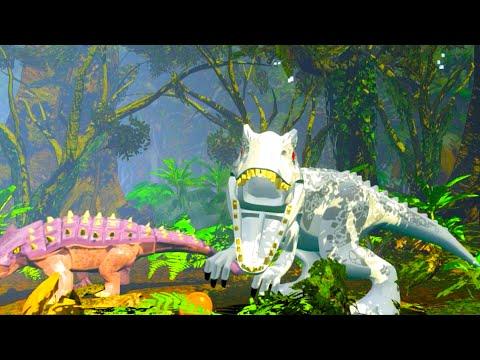 LEGO Jurassic World Indominus Rex vs Ankylosaurus Showdown
