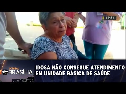 Idosa não consegue atendimento em Unidade Básica de Saúde   Jornal SBT Brasília 16/07/2018