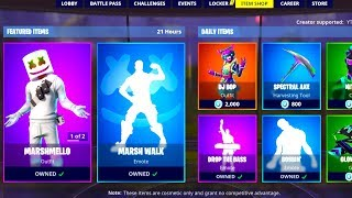 NOUVEAU MARSHMELLO SKIN - SET OUT RIGHT NOW! - 31 JANVIER NEW FORTNITE DAILY ITEM SHOP UPDATE!
