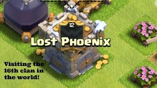Clash of clans   Visiting Lost Phoenix!!   Attempting some of their bases  