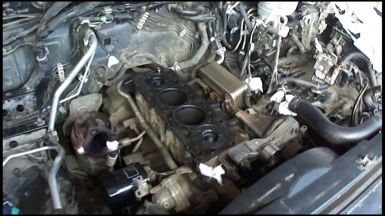 Ремонт L200 двигатель 4D56 Обрыв ремня ГРМ
