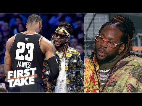 'It's always good vibes' with LeBron in the recording studio - 2 Chainz | First Take
