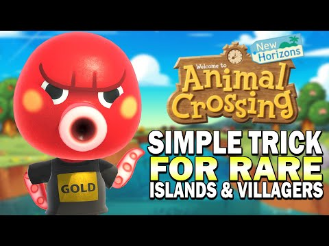 Easy Trick To Get Rare Villagers & Rare Islands! Animal Crossing New Horizons Guide