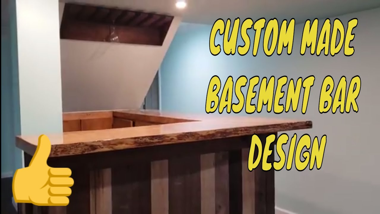 Custom Made Basement Bar Design Bar Under Staircase Youtube | Bar Under The Stairs Design | Escalera | Kitchen | Storage | Basement Remodeling | Attic Stairs