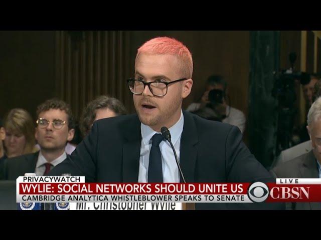 Cambridge Analytica whistleblower Christopher Wylie testifies before Senate committee