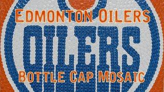 """Edmonton Oilers"" - Bottle Cap Mosaic"