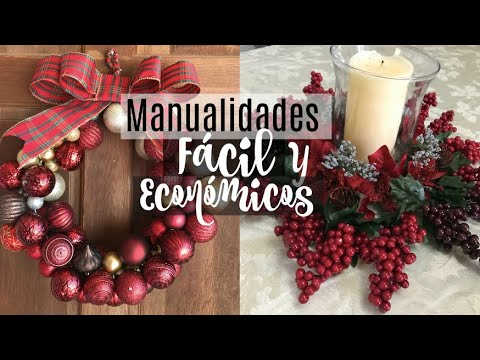 Decoraciones Navideñas 2018 || DIY Dollar Tree || Video en COLABORACIóN