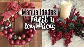 Decoraciones Navideñas 2018    DIY Dollar Tree    Video en COLABORACIóN