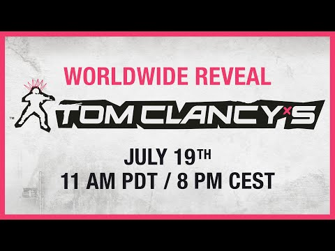 New Tom Clancy's Game Worldwide Reveal