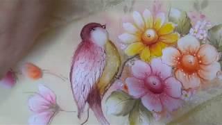 Pintura em Toalha – Aprenda Pintar passarinho