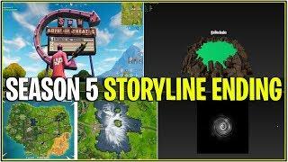 *NEW* Fortnite: SEASON 5 STORYLINE ENDING! *Cube Boils Loot Lake* | (LOOT VOLCANO)