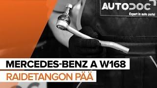 MERCEDES-BENZ A-CLASS (W168) Raidetangon Pää asennus : ilmainen video