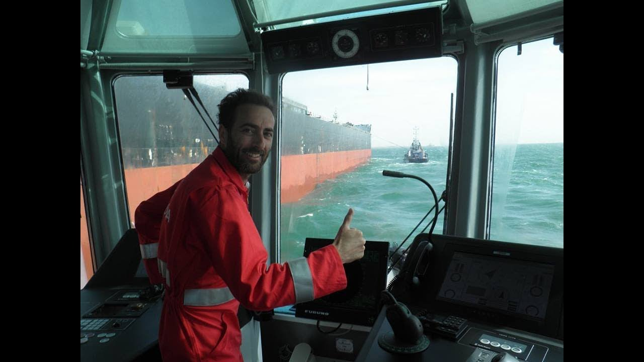 Transfer Towing line connected sailing ahead, by Capt  DAVID TRILLO  GALLEGO, Asd TUG MASTER