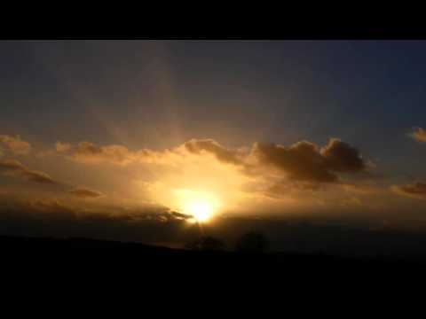 NEW SUNSET & RAYS TIME LAPSE (FRANCE) NOUVEAU COUCHER & RAYO