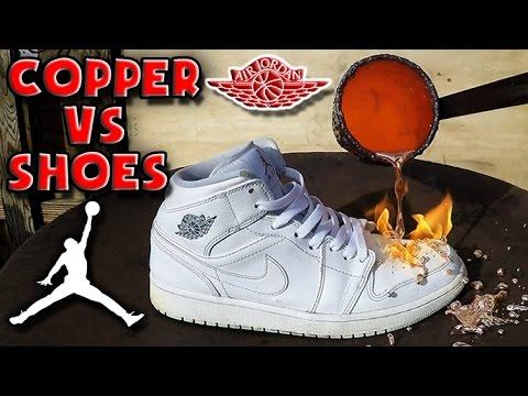 Molten Copper vs Nike Air Jordan Shoes