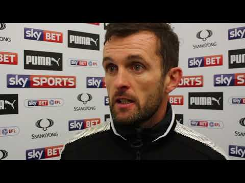 Nathan Jones on the 7-0 win over Cambridge United