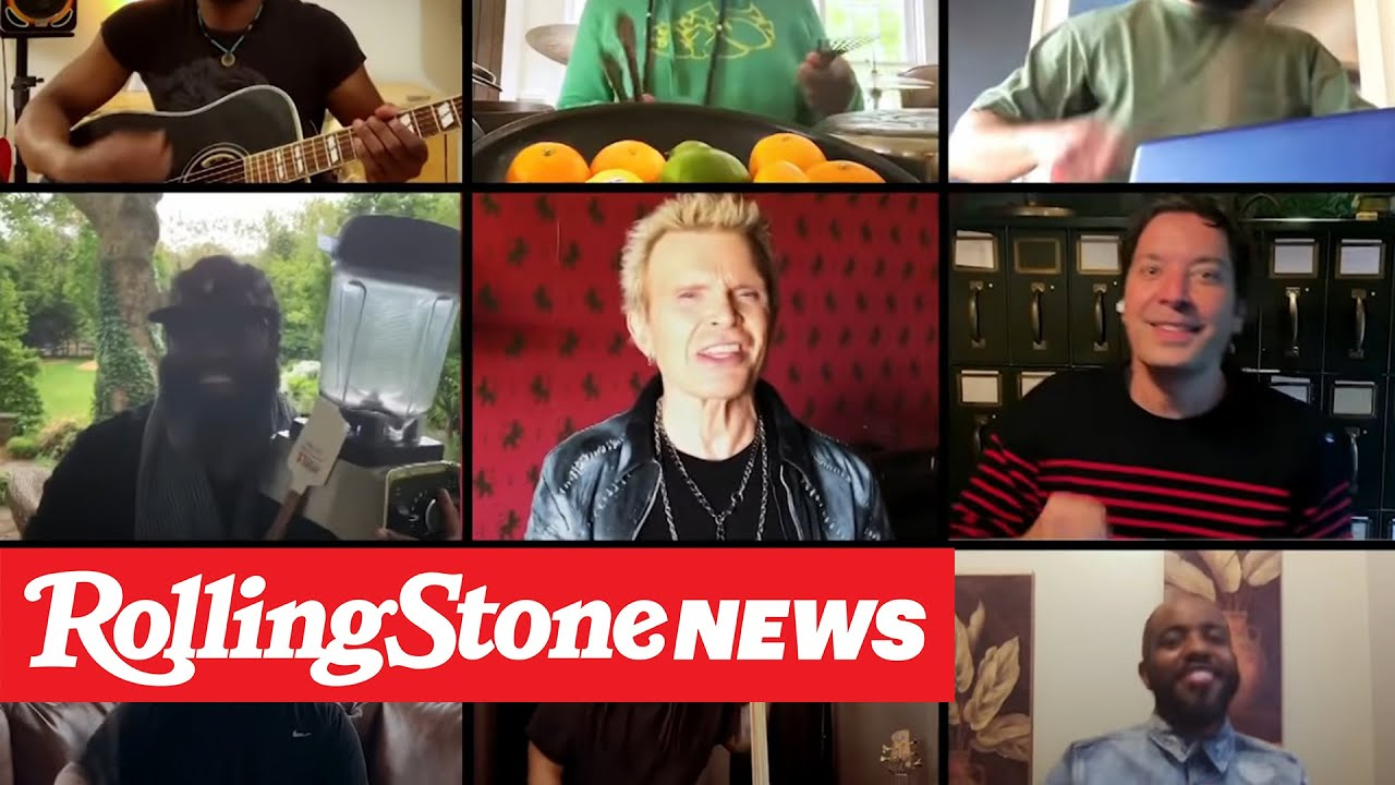 Jimmy Fallon, Billy Idol, the Roots Perform 'Dancing With Myself' at Home | RS News 5/22/20