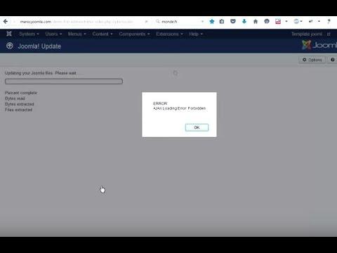 Fix Update Joomla 3.4 / 3.5 -3.6 AJAX Loading Error: Internal Server Error