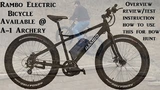 Rambo Electric Bike Review Test how to use a bike for bow hunting deer