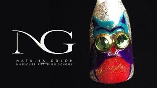 Маникюр совушка: рисунки на ногтях для начинающих / Owl nail art tutorial