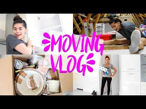 MOVING VLOG 1 | GETTING MY KEYS & UNPACKING MY KITCHEN! KITCHEN ROOM TOUR