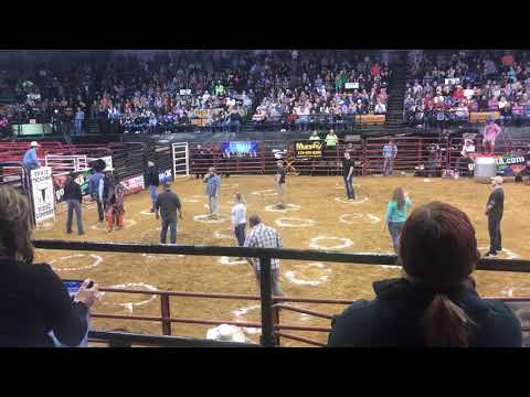Tige and Daniel - Bull Sends People Flying During a Game of Cowboy Pinball In Kentucky