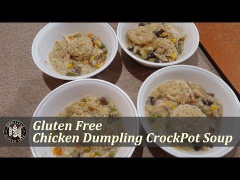 Gluten Free Chicken and Dumpling Crockpot Soup | HomeStyle Gluten Free