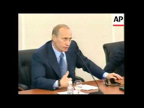 EU leaders presser, Putin hosts official lunch
