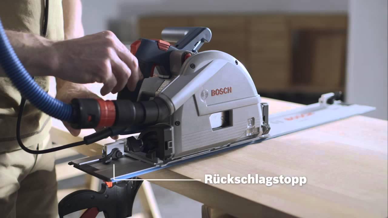 bosch tauchkreissäge gkt 55 gce professional - youtube