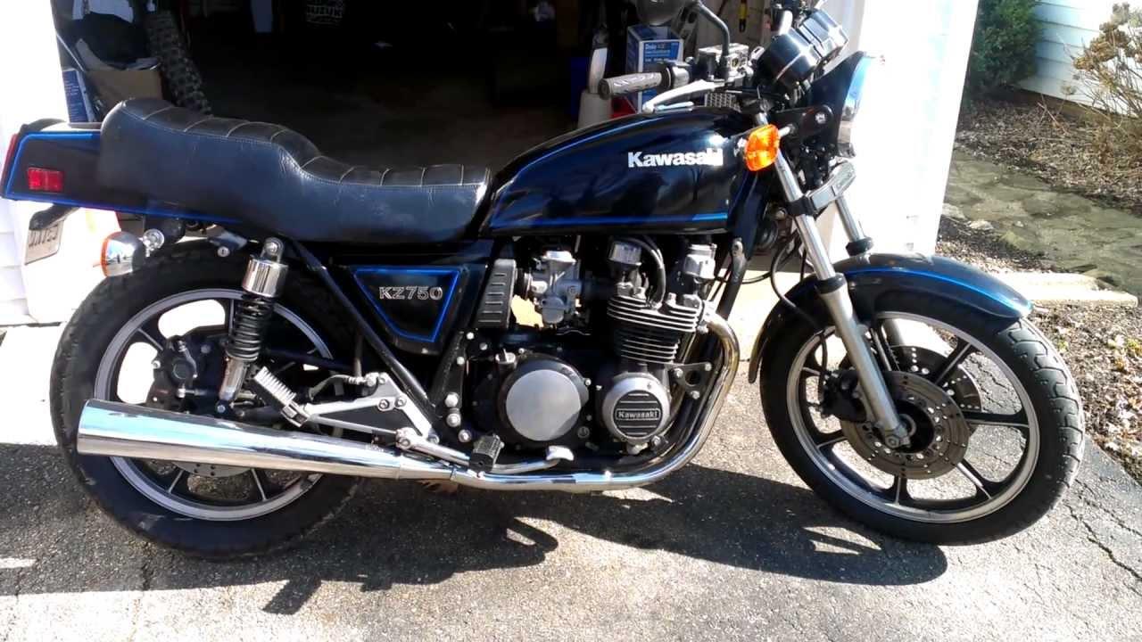 1982 Kawasaki Kz750e inline 4 - YouTube