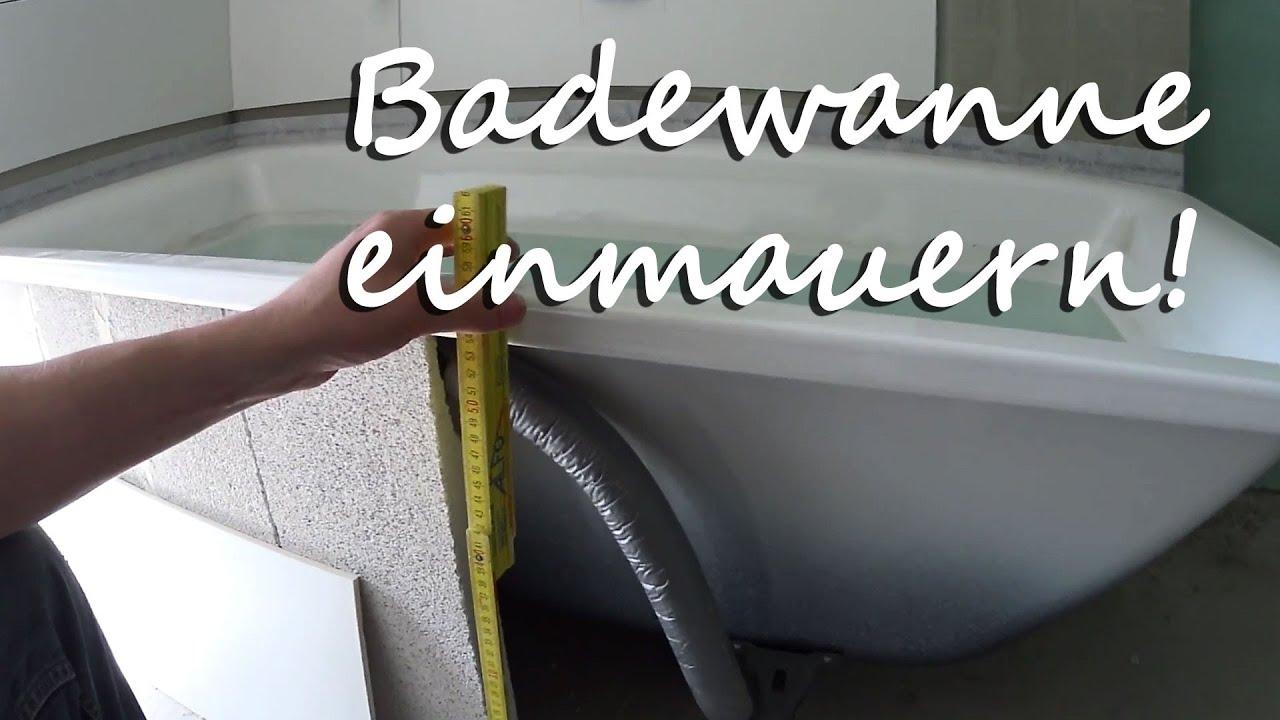 Badewanne einmauern - Tutorial - YouTube