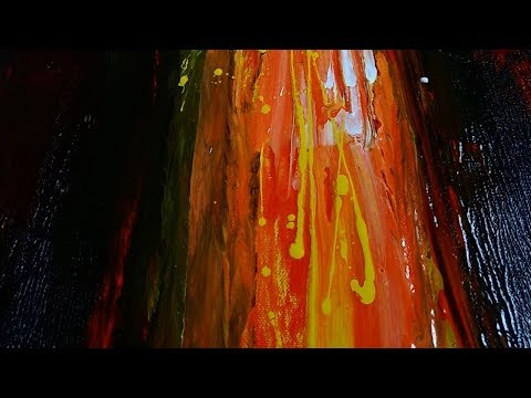 Abstract Painting. Tutorial For Beginners. Abstract art demonstration.13